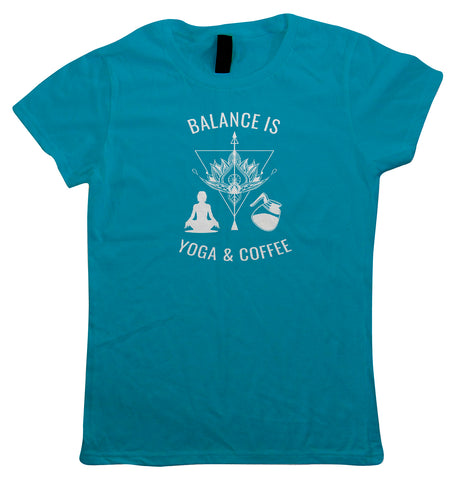 Yoga and Coffee, Womens T Shirt