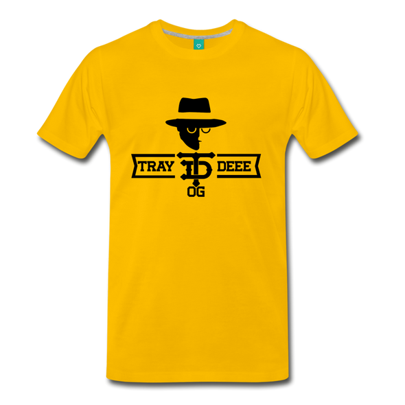 Tray Deee OG Black Logo T-Shirt - sun yellow