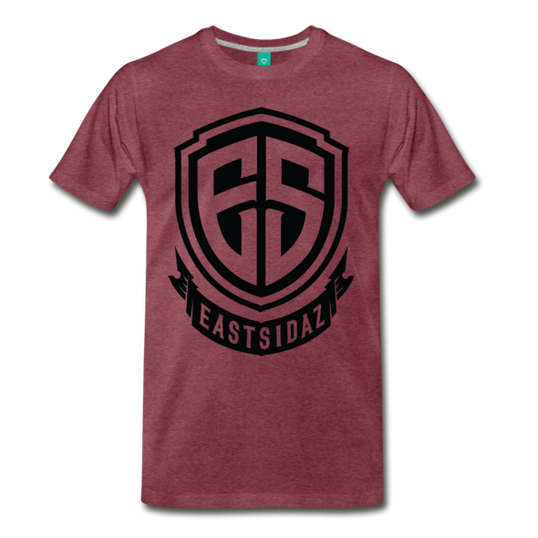 Eastsidaz Black Logo T-Shirt - heather burgundy