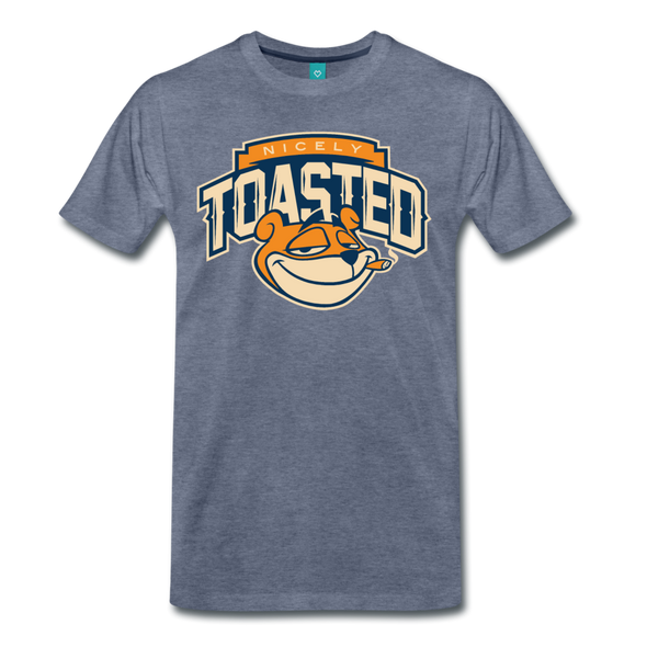 Nicely Toasted T-Shirt - heather blue