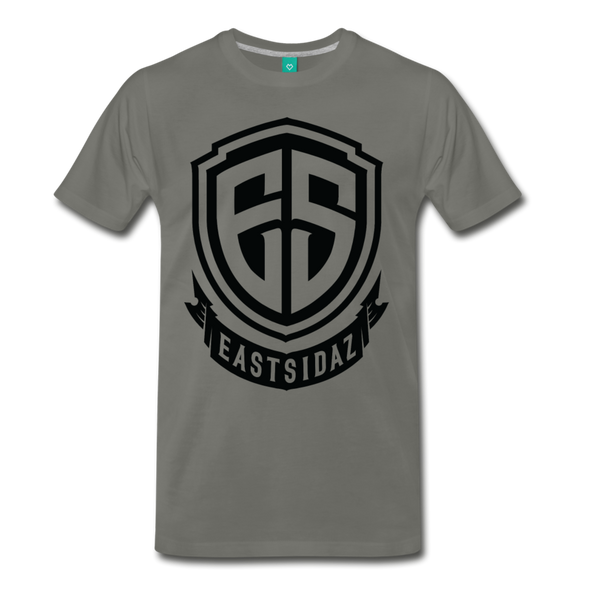 Eastsidaz Black Logo T-Shirt - asphalt gray
