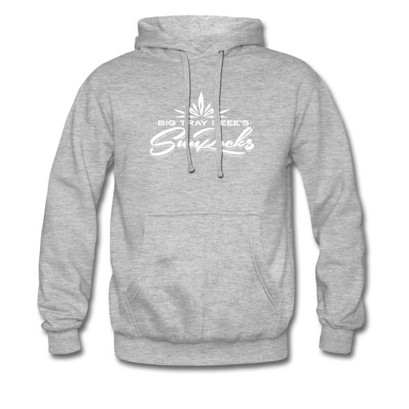 Sunrocks White Logo - Hoodie - heather grey
