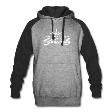 Sunrocks White Logo Colorblock -  Hoodie - heather gray/black