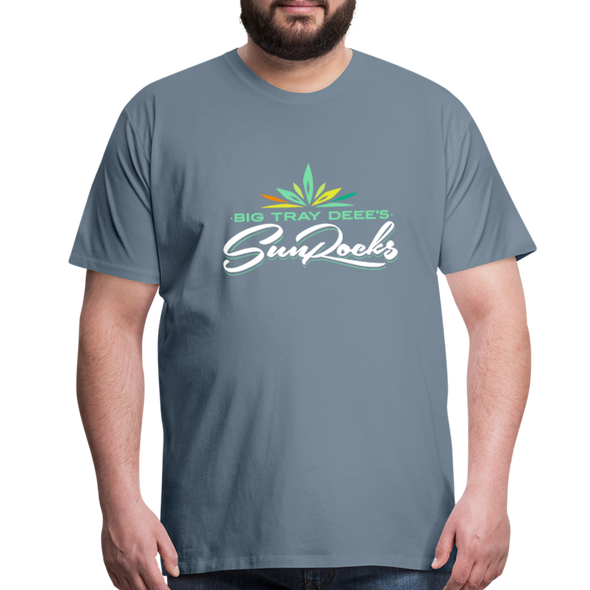 Sunrocks Color Logo Premium T-Shirt - steel blue