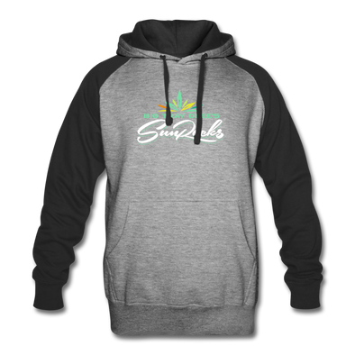 Sunrocks Color Logo Colorblock - Hoodie - heather gray/black