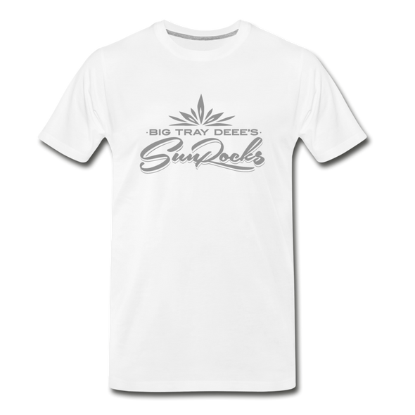 Sunrocks Gray Logo Premium T-Shirt - white