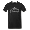 Sunrocks Gray Logo Premium T-Shirt - black
