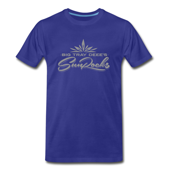 Sunrocks Gray Logo Premium T-Shirt - royal blue