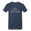 Sunrocks Gray Logo Premium T-Shirt - navy