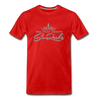 Sunrocks Gray Logo Premium T-Shirt - red