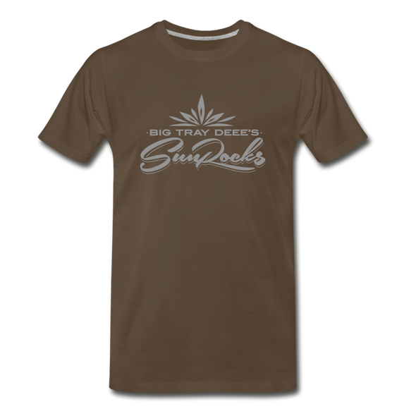 Sunrocks Gray Logo Premium T-Shirt - noble brown