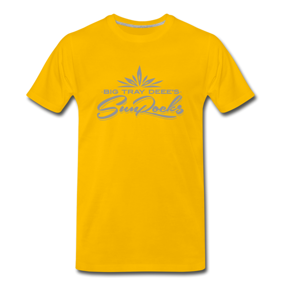 Sunrocks Gray Logo Premium T-Shirt - sun yellow