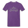 Sunrocks Gray Logo Premium T-Shirt - purple