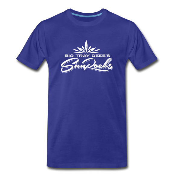 Sunrocks White Logo Premium T-Shirt - royal blue