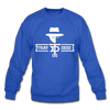 Tray Deee OG White Logo Crewneck Sweatshirt - royal blue