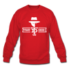 Tray Deee OG White Logo Crewneck Sweatshirt - red
