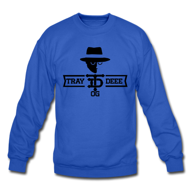 Tray Deee OG Blk Logo - Crewneck Sweatshirt - royal blue