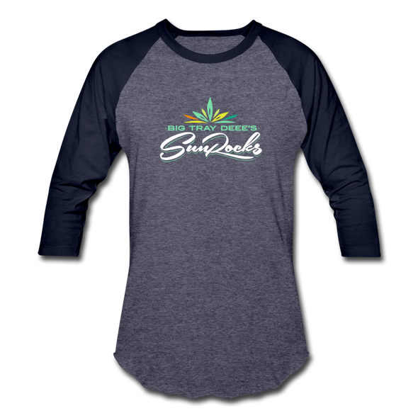 Big Tray Deee's SunRocks Baseball T-shirt - heather blue/navy