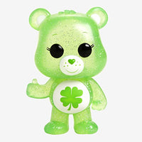 Funko Pop! Animation: Care Bears - Good Luck Bear Glitter CHASE Variant Limited Edition Vinyl Figure (Bundled with Pop Box Protector Case)