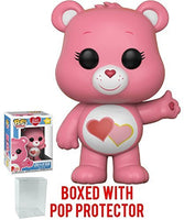 Funko Pop! Animation: Care Bears - Love-a-Lot Bear Vinyl Figure (Bundled with Pop Box Protector Case)