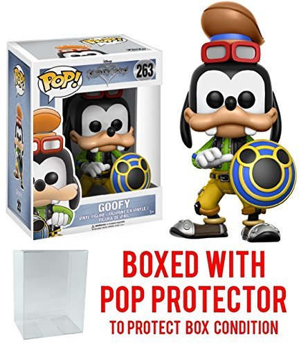 Funko Pop! Disney: Kingdom Hearts Goofy Vinyl Figure (Bundled with Pop BOX PROTECTOR CASE)