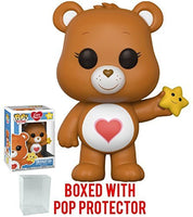 Funko Pop! Animation: Care Bears - Tenderheart Bear Vinyl Figure (Bundled with Pop Box Protector Case)