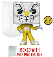 Funko Pop! Games: Cuphead - King Dice Yellow Tux Chase Variant Limited Edition Vinyl Figure (Bundled with Pop Box Protector Case)