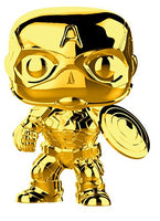 Funko Pop Marvel: Marvel Studios 10 - Captain America (Gold Chrome) Collectible Figure, Multicolor
