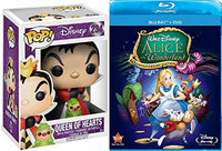 Disney Alice in Wonderland Blu Ray + DVD 60th Anniversary Edition & Funko Pop! Disney Alice In Wonderland Queen of Hearts #234