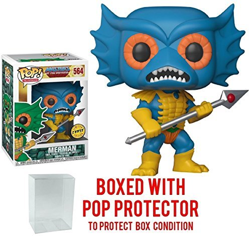 Funko Pop! Television: Masters of the Universe - Mer-man Blue CHASE Limited Edition Vinyl Figure (Bundled with Pop BOX PROTECTOR CASE)