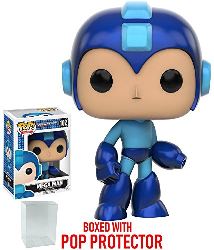 Funko Pop! Games: Mega Man - Mega Man Vinyl Figure (Bundled with Pop Box Protector CASE)