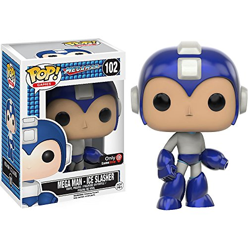 Funko Mega Man - Ice Slasher (GameStop Exclusive) POP! Games x Mega Man Vinyl Figure + 1 Free Mega Man Trading Card Bundle (10361)