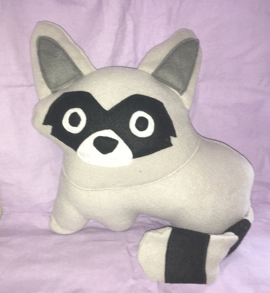 Raccoon Plush Plushy Pillow