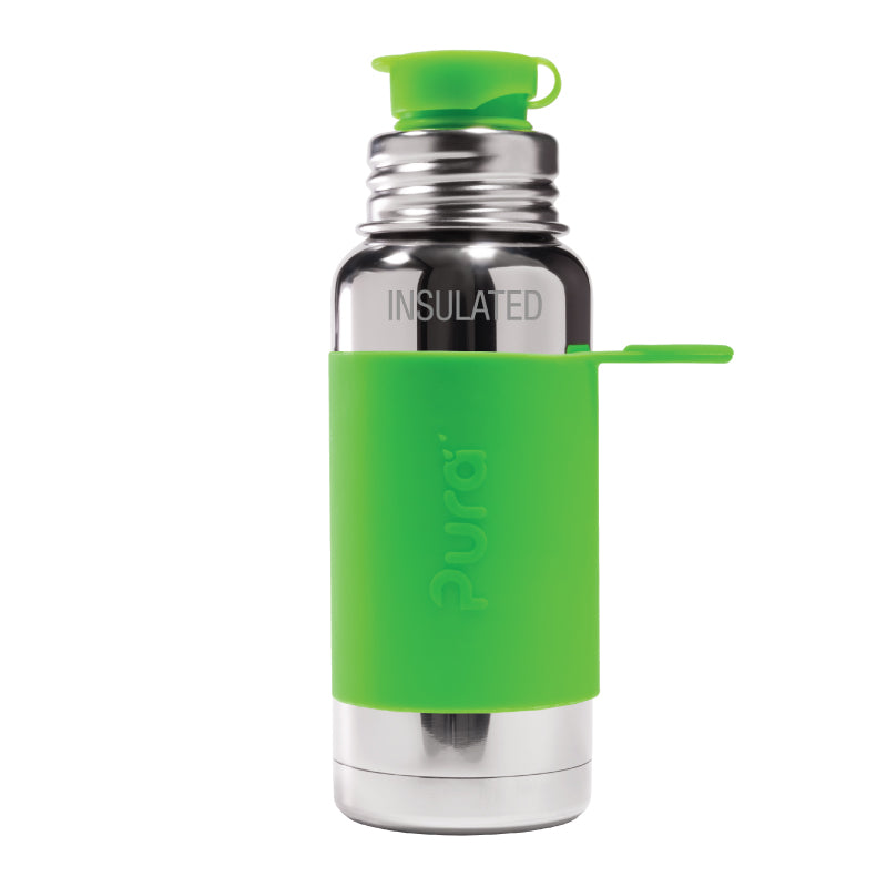 Pura Sport 475 Insulated Stainless Steel Bottle - Green (New)