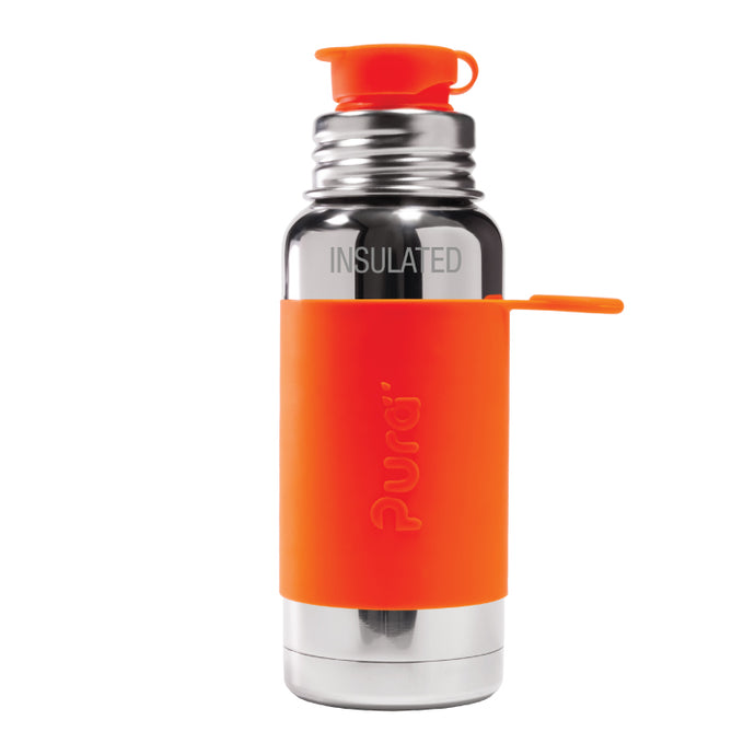 Pura Sport 475 Insulated Stainless Steel Bottle - Orange (New)