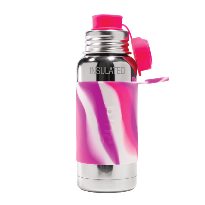 Pura Sport 475 Insulated Stainless Steel Bottle - Pink Swirl