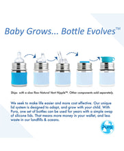 Load image into Gallery viewer, Pura Kiki 150ml Infant Stainless Steel Bottle - Aqua Sleeve