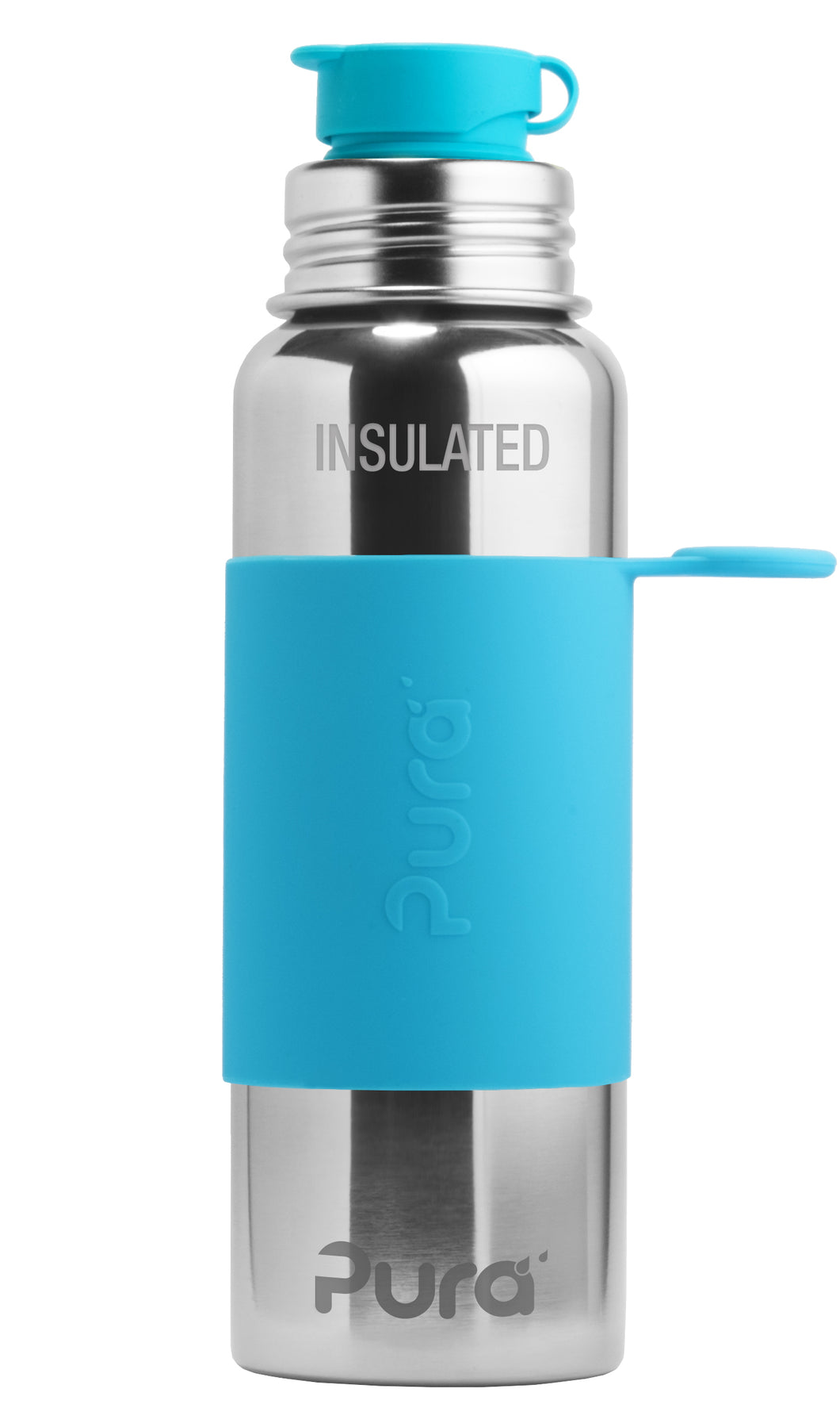 Pura Sport 650 Insulated Stainless Steel Bottle - Aqua
