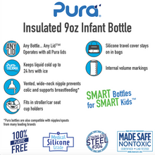Load image into Gallery viewer, Pura Kiki 260ml Insulated Infant Stainless Steel Bottle - Natural