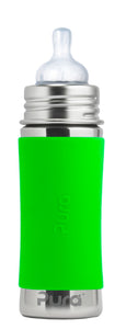 Pura Kiki 325ml Infant Stainless Steel Bottle - Green Sleeve