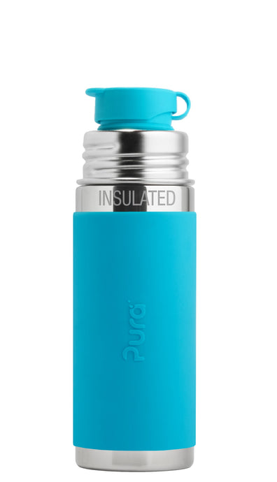Pura Sport Mini 260 Insulated Stainless Steel Bottle - Aqua