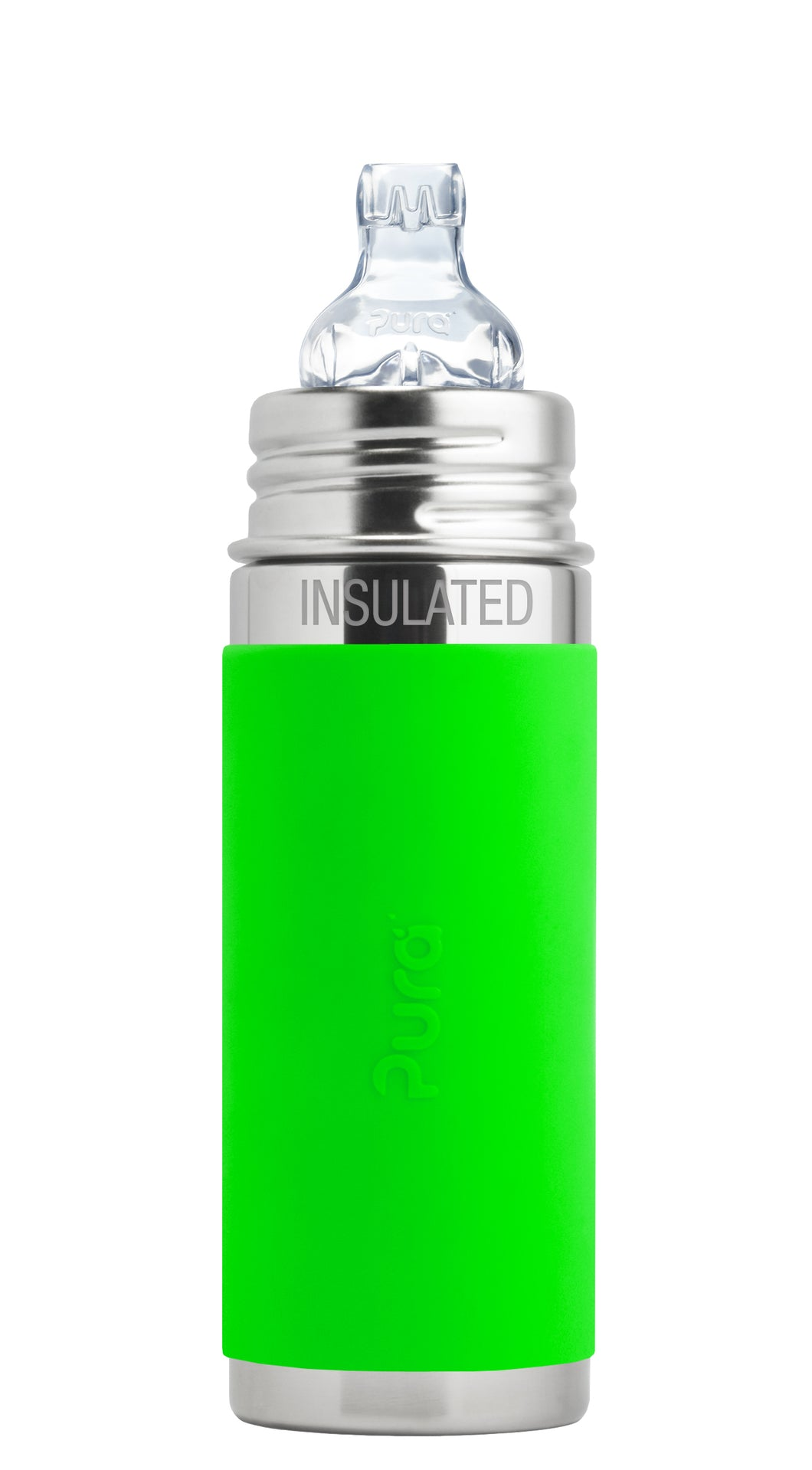Pura Kiki 260ml Insulated Toddler Sippy - Green Sleeve