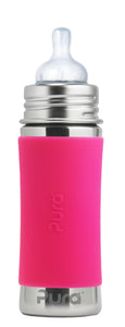 Pura Kiki 325ml Infant Stainless Steel Bottle - Pink Sleeve