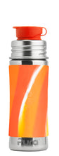 Load image into Gallery viewer, Pura Sport Mini 325 Stainless Steel Bottle - Orange Swirl