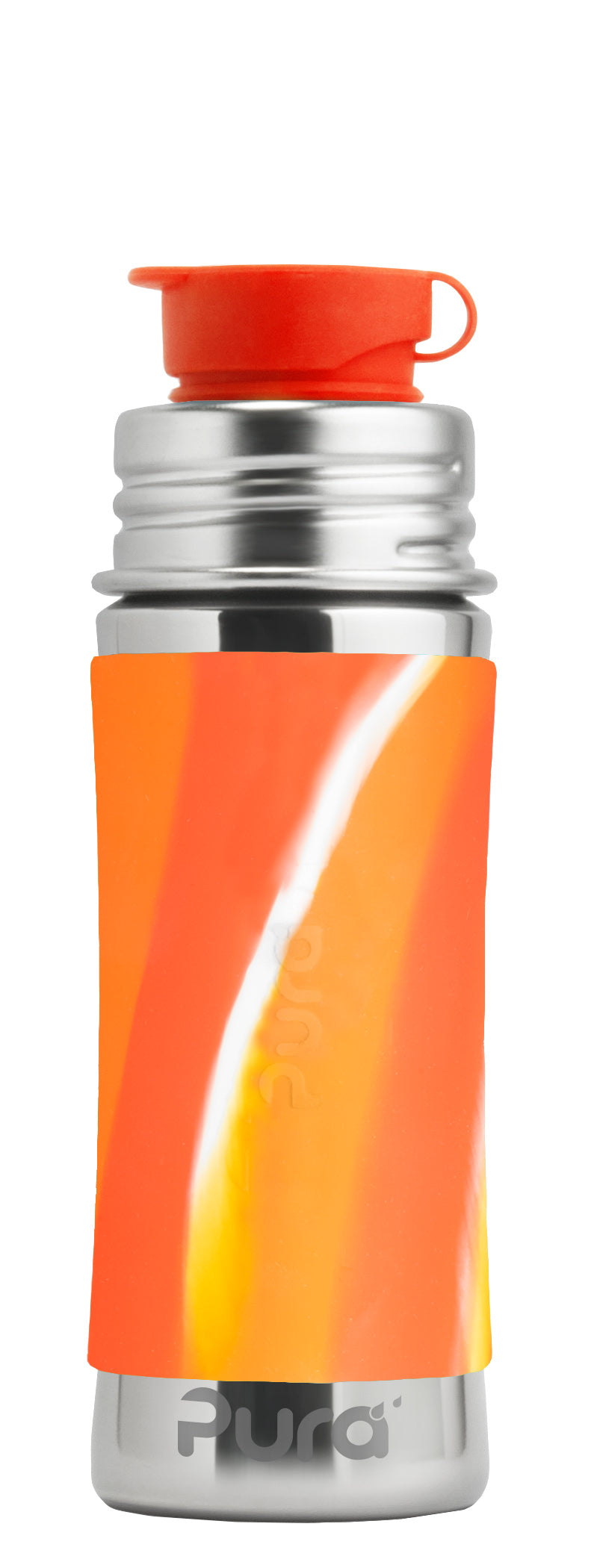 Pura Sport Mini 325 Stainless Steel Bottle - Orange Swirl