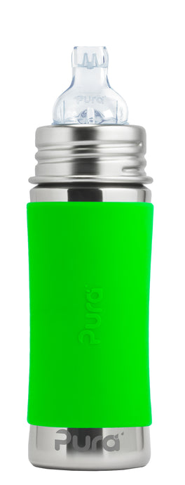 Pura Kiki 325ml Toddler Sippy Stainless Steel Bottle - Green