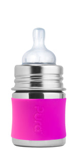 Pura Kiki 150ml Infant Stainless Steel Bottle - Pink Sleeve