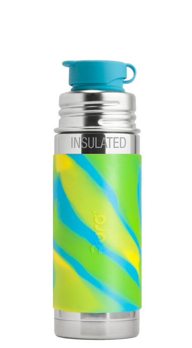 Pura Sport Mini 260 Insulated Stainless Steel Bottle - Aqua Swirl