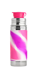 Load image into Gallery viewer, Pura Sport Mini 260 Insulated Stainless Steel Bottle - Pink Swirl
