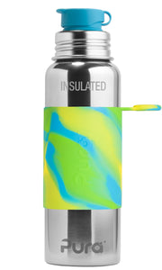 Pura Sport 650 Insulated Stainless Steel Bottle - Aqua Swirl (New)